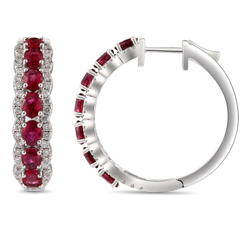 6F068376AWERDR 18KT Ruby Earring