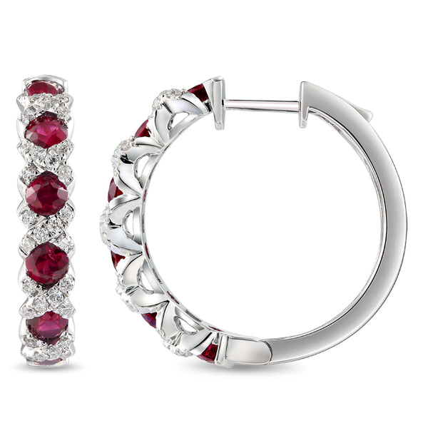 6F068378AWERDR 18KT Ruby Earring