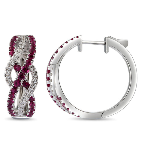 6F068379AWERDR 18KT Ruby Earring
