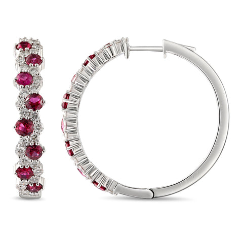 6F068382AWERDR 18KT Ruby Earring