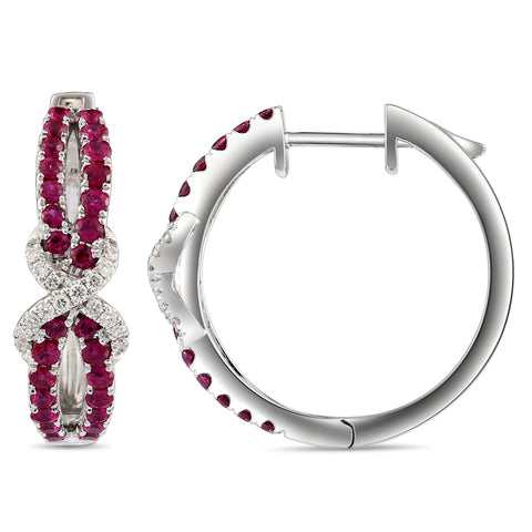 6F068383AWERDR 18KT Ruby Earring