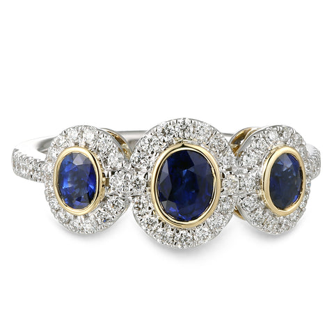 6F071972AULRDS 18KT Blue Sapphire Ring