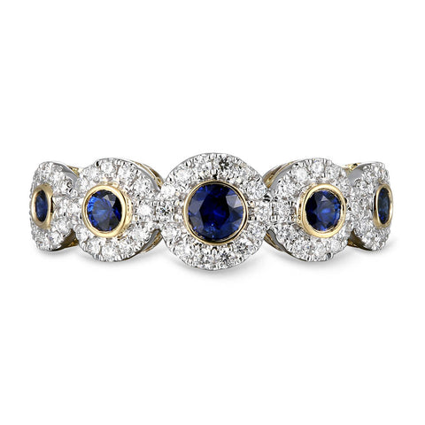6F071973AULRDS 18KT Blue Sapphire Ring