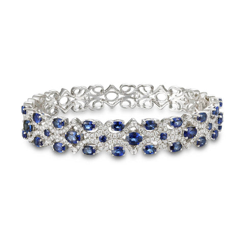 6F071976AWLBDS 18KT Blue Sapphire Bangle