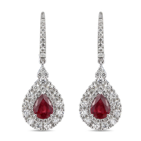 6F071983AWERDR 18KT Ruby Earring