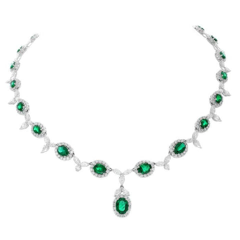 6F410AWCHDE001 18KT Emerald Necklace