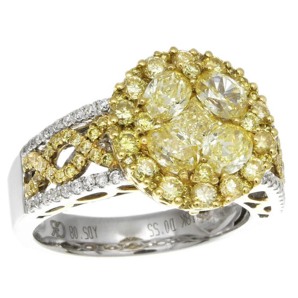 6F601689AULRYD 18KT Yellow Diamond Ring