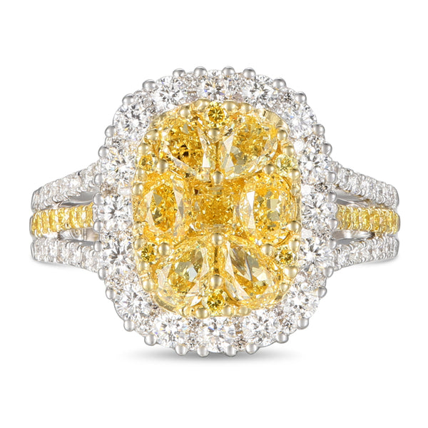 6F601690AULRYD 18KT Yellow Diamond Ring