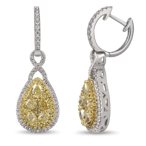 6F601692AUERYD 18KT Yellow Diamond Earring