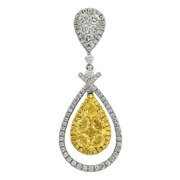6F601820AUPDYD 18KT Yellow Diamond Pendant