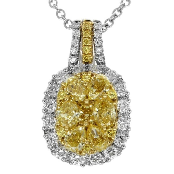 6F601823AUPDYD 18KT Yellow Diamond Necklace