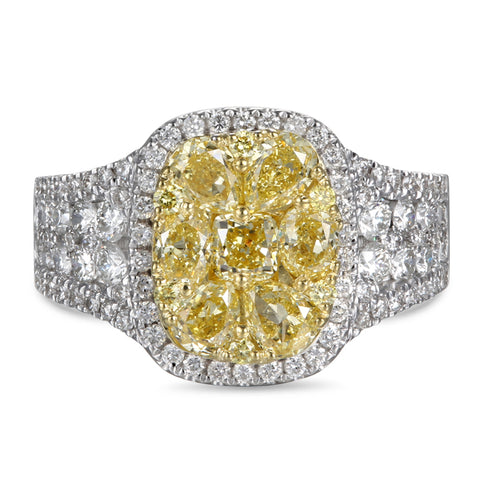 6F601824AULRYD 18KT Yellow Diamond Ring