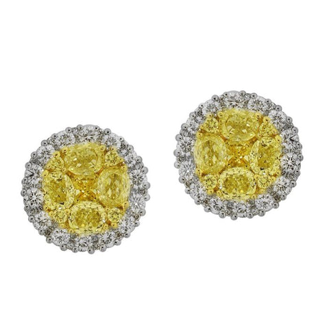 6F601826AUERYD 18KT Yellow Diamond Earring