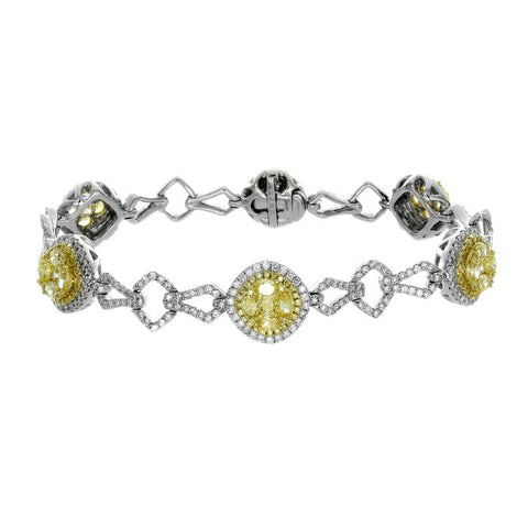 6F601830AULBYD 18KT Yellow Diamond Bracelet