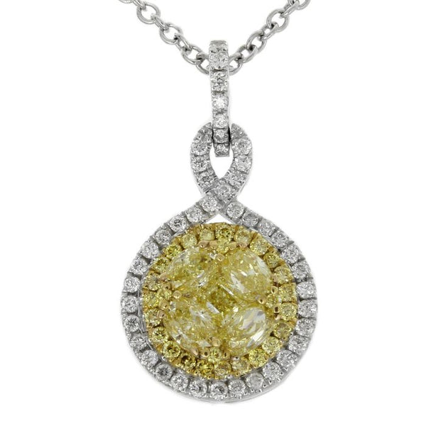 6F601832AUPDYD 18KT Yellow Diamond Pendant