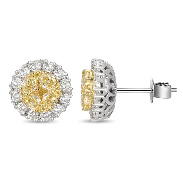 6F601834AUERYD 18KT Yellow Diamond Earring