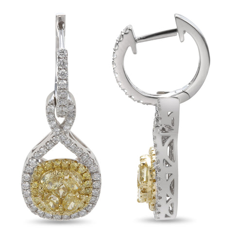 6F601838AUERYD 18KT Yellow Diamond Earring