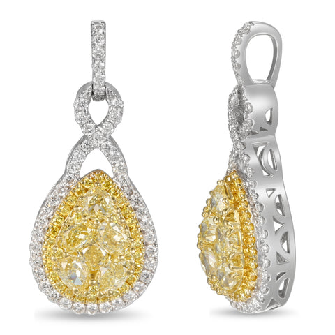 6F601841AUPDYD 18KT Yellow Diamond Pendant