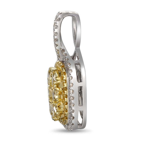 6F601847AUPDYD 18KT Yellow Diamond Pendant