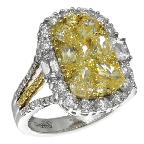 6F601856AULRYD 18KT Yellow Diamond Ring