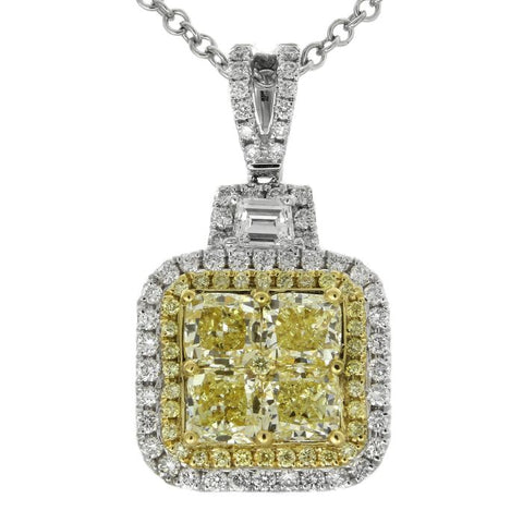 6F601858AUPDYD 18KT Yellow Diamond Pendant