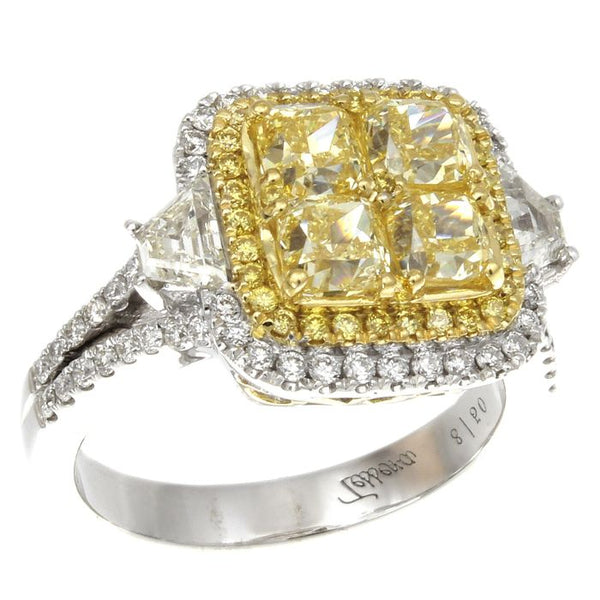 6F601864AULRYD 18KT Yellow Diamond Ring