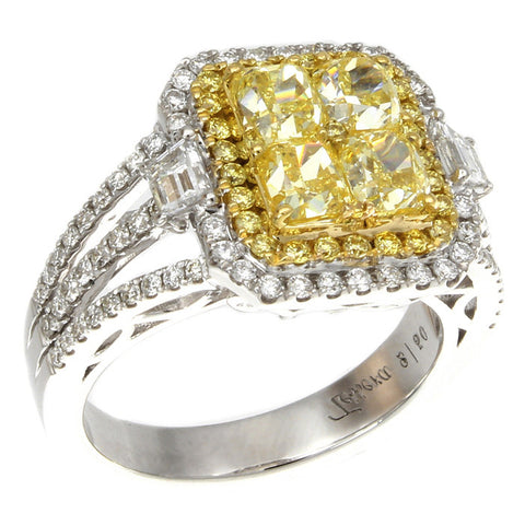 6F601867AULRYD 18KT Yellow Diamond Ring