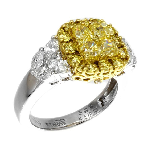 6F601868AULRYD 18KT Yellow Diamond Ring