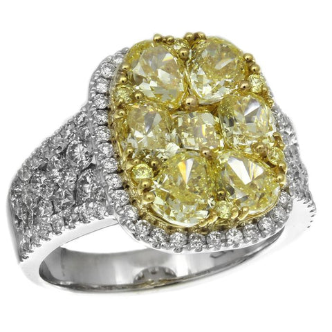 6F602099AULRYD 18KT Yellow Diamond Ring
