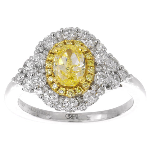 6F602124AULRYD 18KT Yellow Diamond Ring