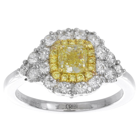 6F602125AULRYD 18KT Yellow Diamond Ring