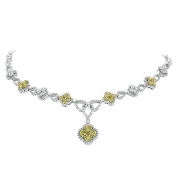 6F602291AUCHYD 18KT Yellow Diamond Necklace
