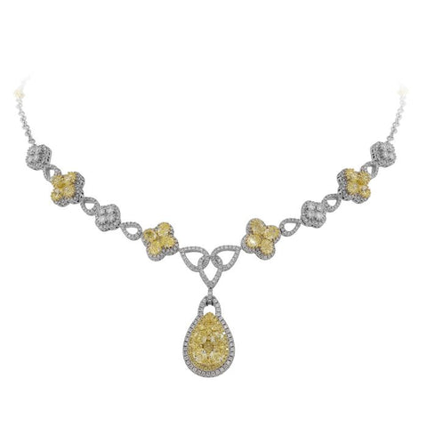 6F602343AUCHYD 18KT Yellow Diamond Necklace