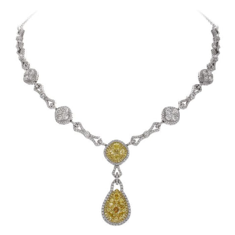 6F602356AUCHYD 18KT Yellow Diamond Necklace