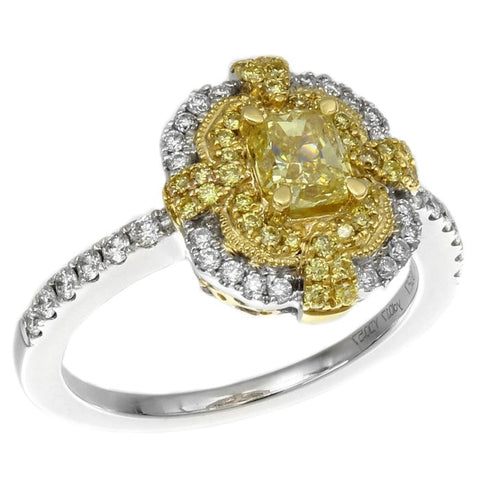 6F602502AULRYD 18KT Yellow Diamond Ring
