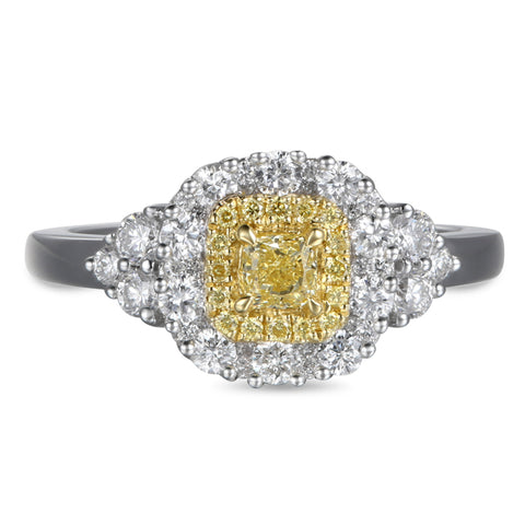 6F602505AULRYD 18KT Yellow Diamond Ring
