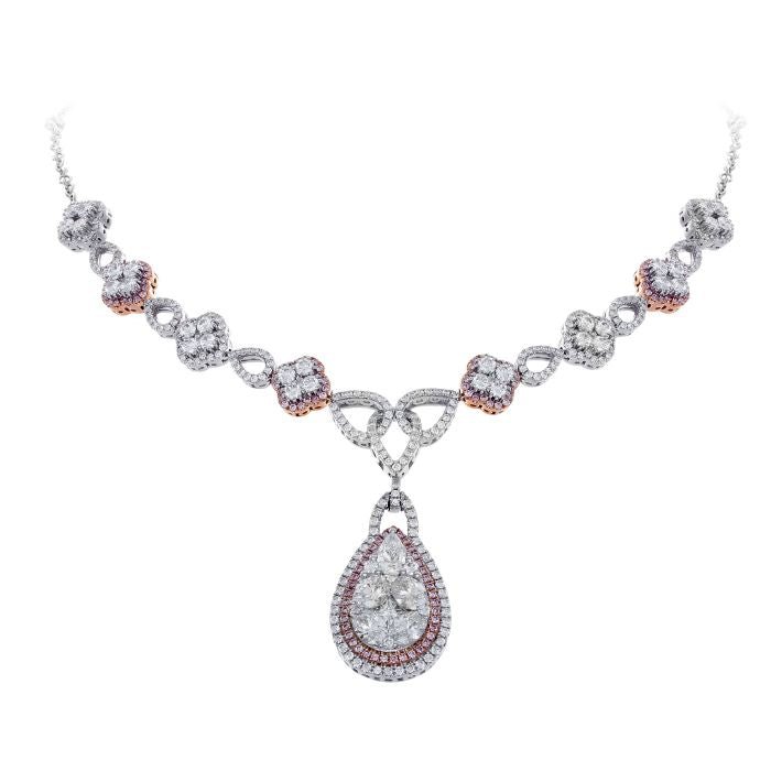 set in dp diamond pink sales low necklace at bharat online buy india prices amazon