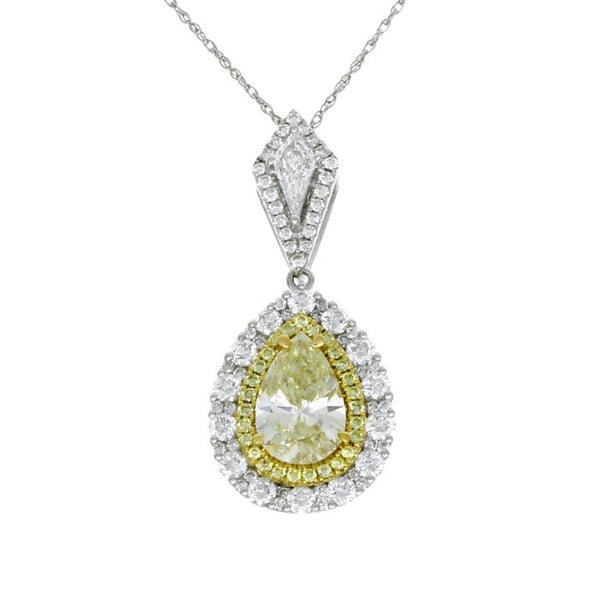 6F602810AUPDYD 18KT Yellow Diamond Pendant