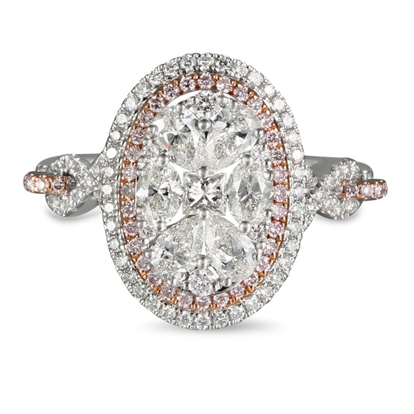 6F602938AQLRPD 18KT Pink Diamond Ring