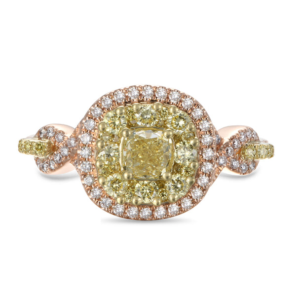 6F602942UQLRYD 18KT Yellow Diamond Ring $Ask For Price