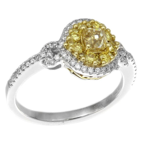 6F603077AULRYD 18KT Yellow Diamond Ring