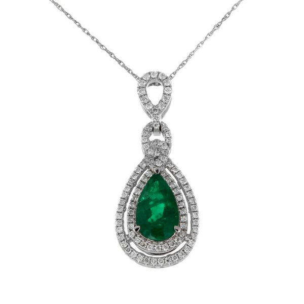 6F603088AWPDDE 18KT Emerald Pendant $Ask For Price