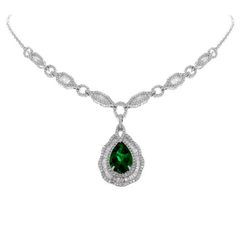 6F603139AWCHDE 18KT Emerald Necklace