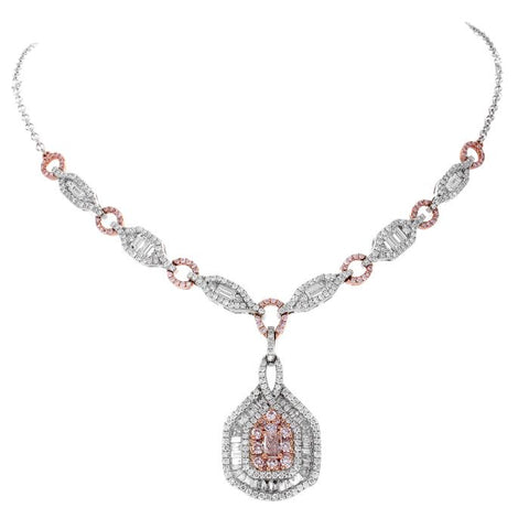 6F603158AQCHPD 18KT Pink Diamond Necklace