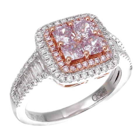 6F603413AQLRPD 18KT Pink Diamond Ring
