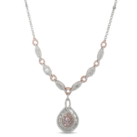 6F603718AQCHPD 18KT Pink Diamond Necklace