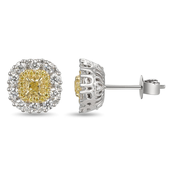 6F603852AUERYD 18KT Yellow Diamond Earring