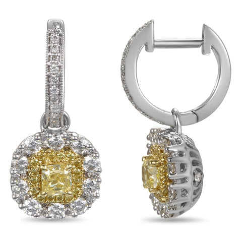 6F603853AUERYD 18KT Yellow Diamond Earring