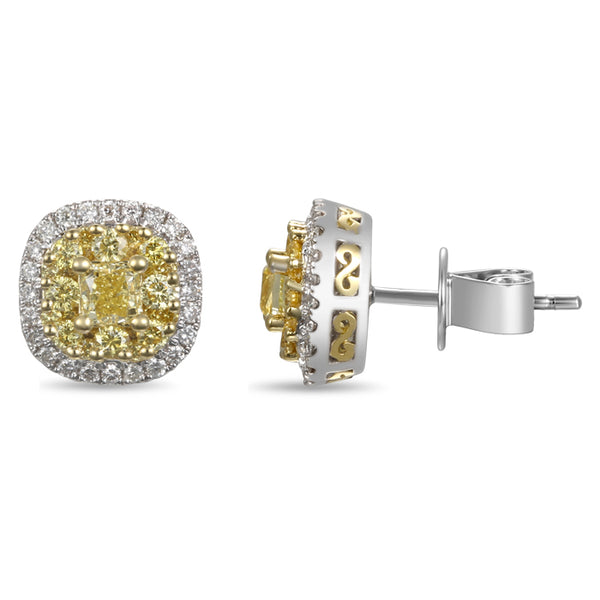 6F603858AUERYD 18KT Yellow Diamond Earring