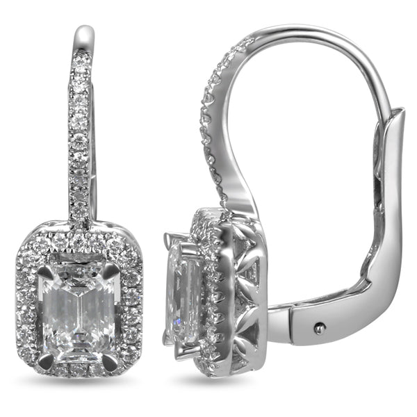 6F604268AWERD0 18KT White Diamond Earring